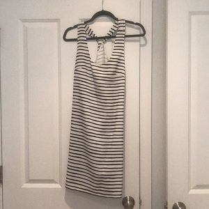 Black and white striped dress from crew